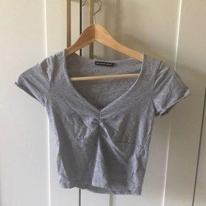 Grey BRANDY MELVILLE TOP